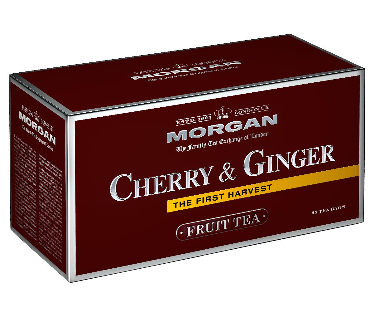 Morgan Cherry & Ginger чай в пакетиках, 25 шт4607141334368Чай Morgan Cherry & Ginger - это изысканное сочетание каркаде, кусочков яблока, имбиря и шиповника. Он прекрасно освежит и зарядит энергией в любое время дня!
