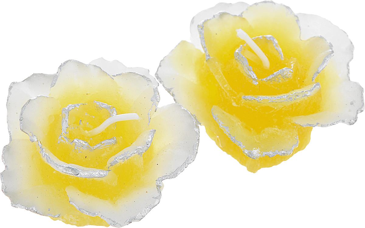 Набор декоративных свечей Lunten Ranta Тающая роза, цвет: желтый, диаметр 5,5 см, 2 шт67760_2Набор Lunten Ranta Тающая роза состоит из 2 декоративных свечей, изготовленных из парафина. Свечи в виде цветов украсят интерьер вашего дома или офиса и наполнят его атмосферу теплом и уютом.