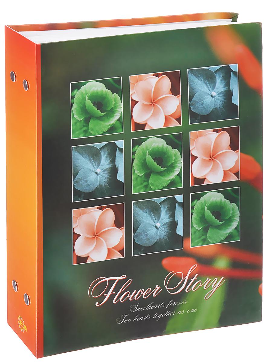Фотоальбом Euro Album Flower Story, цвет: зеленый, оранжевый, 200 фотографий, 10 x 15 см18982 PP-46200Фотоальбом Euro Album Flower Story поможет красиво оформить ваши самые интересные фотографии. Обложка, выполненная из толстого картона, оформлена изображением цветов. Внутри содержится блок из 50 белых листов с фиксаторами-окошками из полипропилена. Альбом рассчитан на 200 фотографий формата 10 см х 15 см (по 2 фотографии на странице). Переплет - книжный. Нам всегда так приятно вспоминать о самых счастливых моментах жизни, запечатленных на фотографиях. Поэтому фотоальбом является универсальным подарком к любому празднику. Количество листов: 50.
