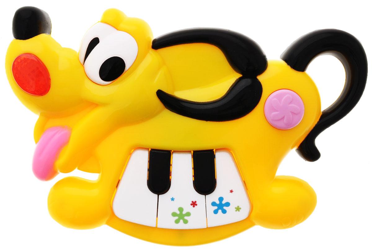 Mommy Love Развивающая игрушка Музыкальный щенокWD3639Развивающая игрушка Музыкальный щенок со звуковыми и световыми эффектами, непременно понравится вашему малышу и станет для него любимой игрушкой. Музыкальный щенок - это пианино из трех клавиш в виде песика из диснеевского мультфильма. Кроме клавиш с нотками, у щенка еще есть кнопка, при нажатии на которую проигрываются 8 разных мелодий. Игрушка оснащена звуковыми и световыми эффектами. Есть встроенный фонарик и ручка, в виде согнутого хвоста собачки, что очень удобно для ребенка. Игрушка развивает координацию движений, мелкую моторику, воображение, память, зрительное и слуховое восприятие. Порадуйте своего ребенка таким замечательным подарком! Для работы необходимо 2 батарейки типа АА (комплектуется демонстрационными).