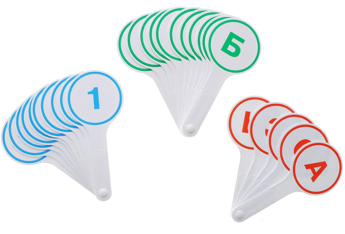 Глобус Обучающий набор 3 кассы-веера гласные буквы согласные буквы цифры от 0 до 20