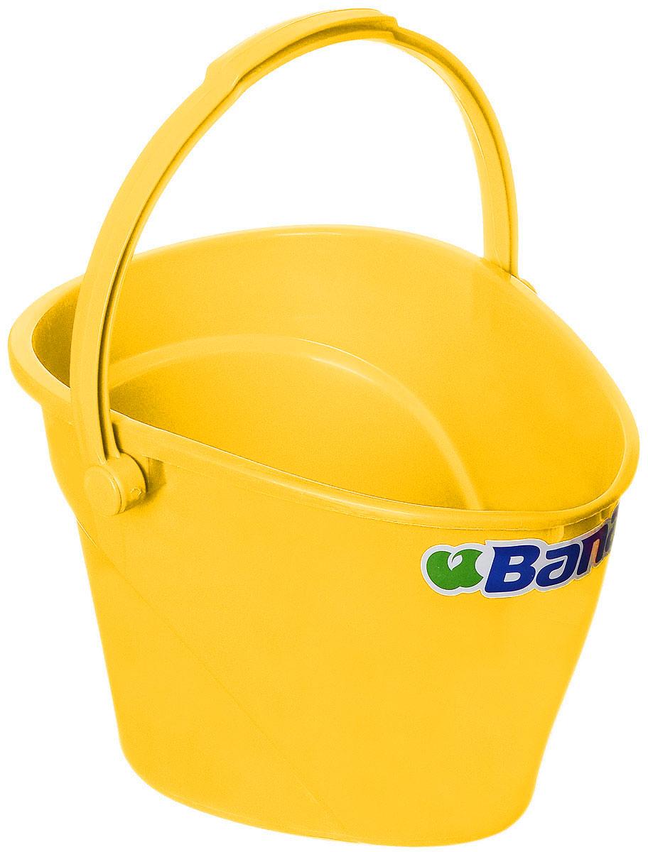 Ведро Banat, цвет: желтый, 12 л780222_желтыйВедро Banat изготовлено из прочного пластика. Предназначено для уборки и других хозяйственных нужд. Изделие имеет специальную форму, позволяющую удобно выливать жидкость. Для переноски предусмотрена прочная широкая ручка.