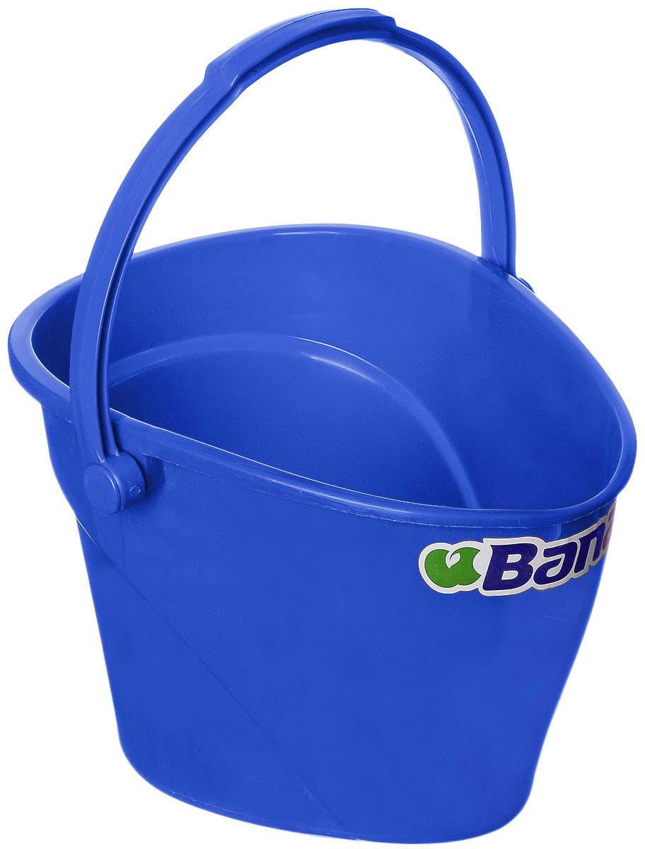 Ведро Banat, цвет: синий, 12 л780222_синийВедро Banat изготовлено из прочного пластика. Предназначено для уборки и других хозяйственных нужд. Изделие имеет специальную форму, позволяющую удобно выливать жидкость. Для переноски предусмотрена прочная широкая ручка.