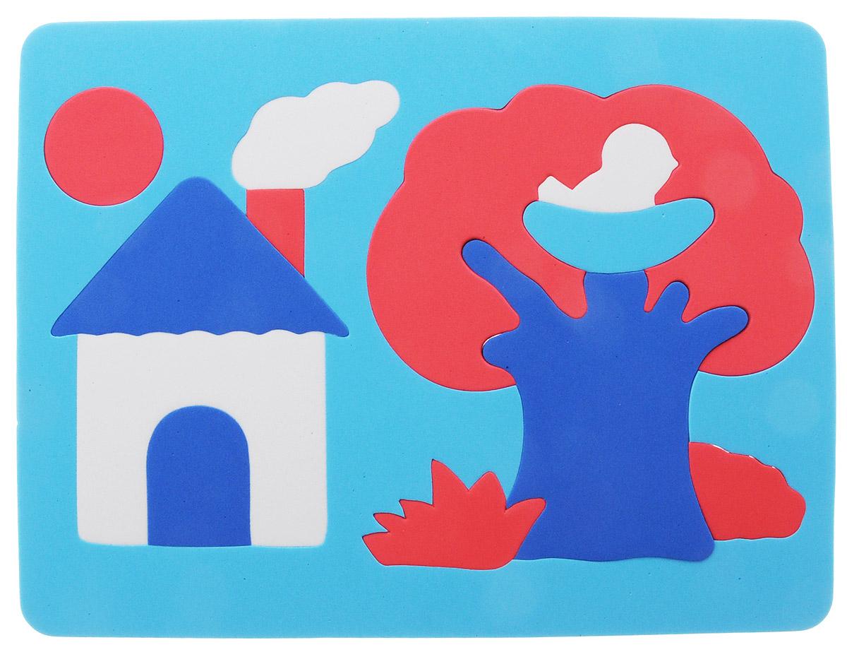 Фантазер Пазл для малышей Дом и дерево цвет основы голубой063551Д_голубой/красный/белыйМягкий конструктор Домик обязательно понравится вашему малышу! Элементы конструктора выполнены из мягкого, приятного на ощупь и абсолютно безопасного материала и имеют закругленные края. Набор включает в себя 13 разноцветных элементов, изготовленных из цветного вспененного полимера - легкого, яркого, прочного и экологически безопасного материала. Игрушка может использоваться и в ванной - при смачивании водой прилипает к гладким вертикальным поверхностям. Набор поможет малышу развить цветовое восприятие, мелкую моторику рук, тактильные ощущения и координацию движений. При игре с конструктором улучшается визуально-сенсорное развитие и творческое мышление.