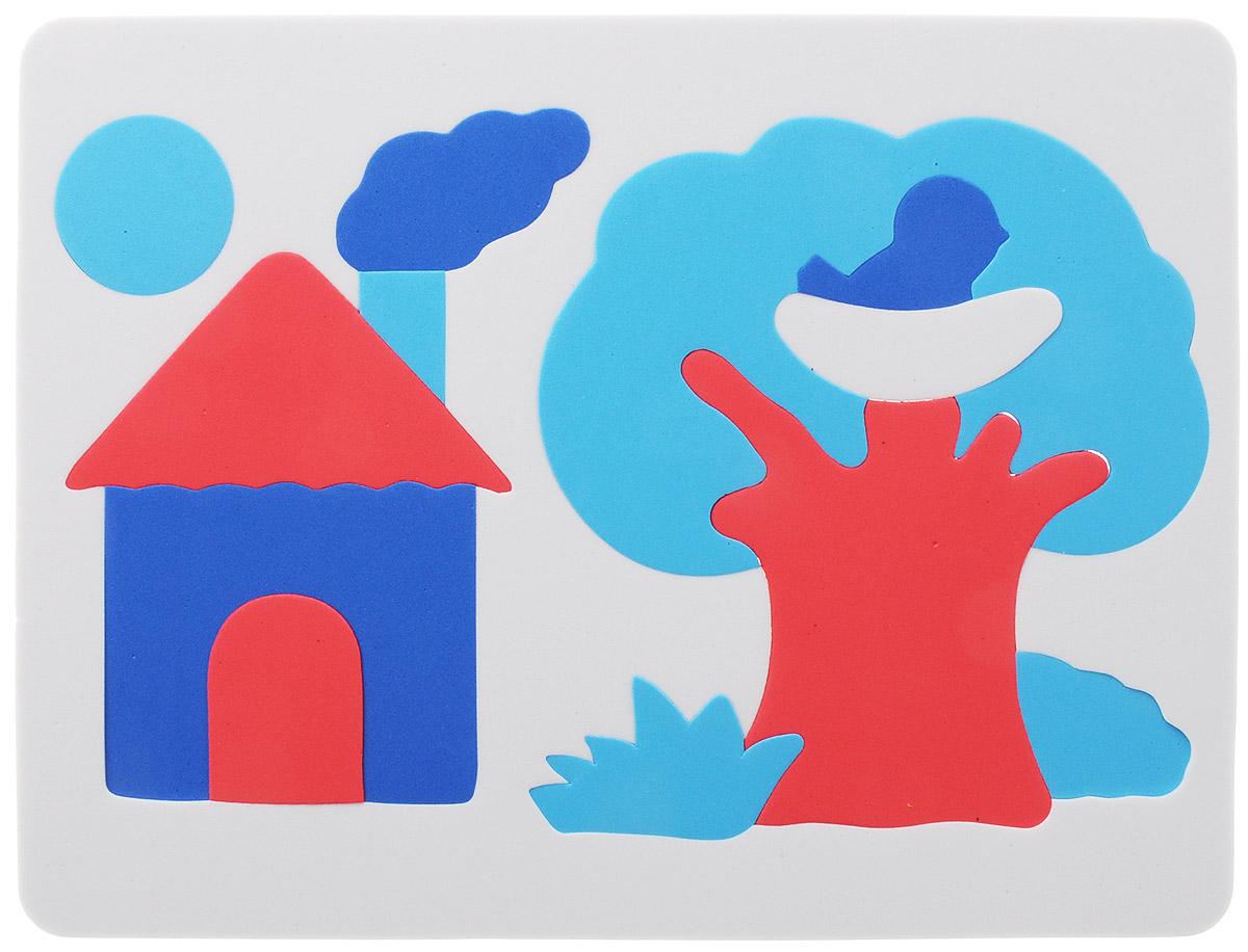Фантазер Пазл для малышей Дом и дерево цвет основы белый063551Д_белый/голубойМягкий конструктор Домик обязательно понравится вашему малышу! Элементы конструктора выполнены из мягкого, приятного на ощупь и абсолютно безопасного материала и имеют закругленные края. Набор включает в себя 13 разноцветных элементов, изготовленных из цветного вспененного полимера - легкого, яркого, прочного и экологически безопасного материала. Игрушка может использоваться и в ванной - при смачивании водой прилипает к гладким вертикальным поверхностям. Набор поможет малышу развить цветовое восприятие, мелкую моторику рук, тактильные ощущения и координацию движений. При игре с конструктором улучшается визуально-сенсорное развитие и творческое мышление.