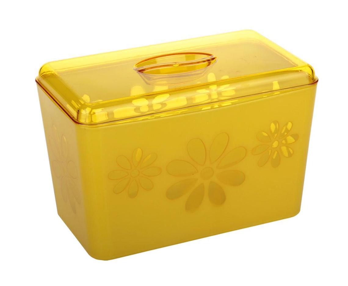 """Хлебница Альтернатива """"Соблазн"""", цвет: желтый, 24 см х 14 см х 14,5 см"""