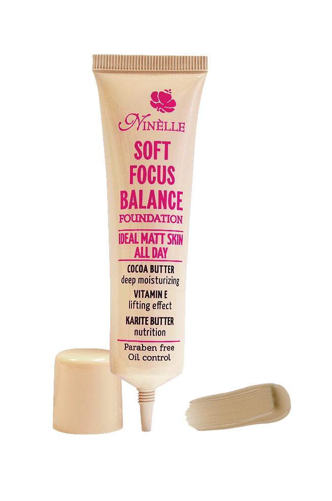 Ninelle Тональный крем Soft Focus Balance, тон №03, 30 мл862N10571Формирует матовое покрытие, Профессиональный эффект «макияж без макияжа», Профессиональный эффект «макияж без макияжа»
