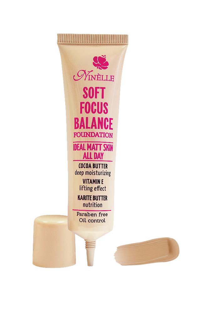 Ninelle Тональный крем Soft Focus Balance, тон №04, 30 мл863N10572Формирует матовое покрытие, Профессиональный эффект «макияж без макияжа», Профессиональный эффект «макияж без макияжа»