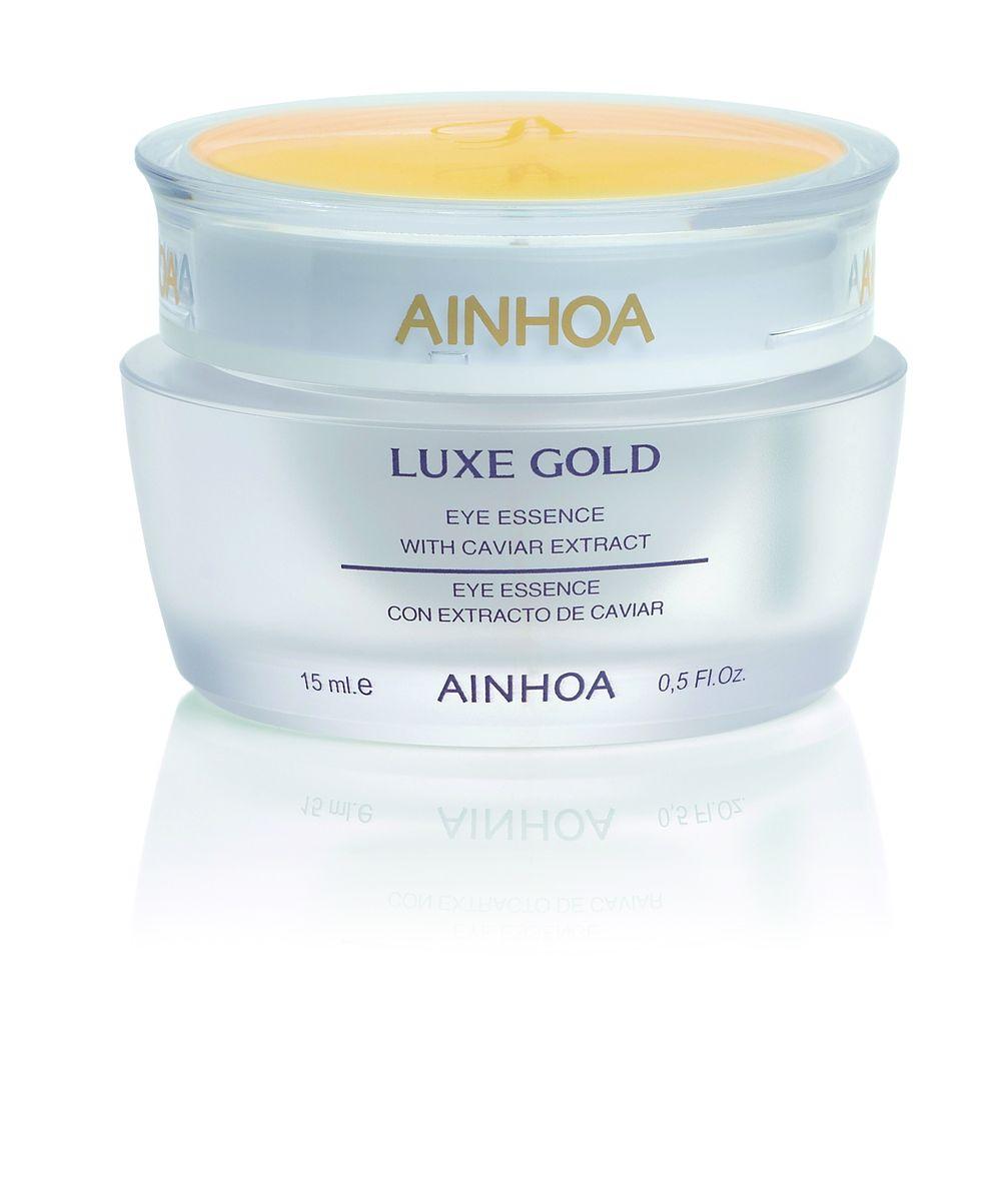 Ainhoa Luxe Gold Нежный гель-крем для глаз с экстрактом икры и золотой пудрой, 15 мл