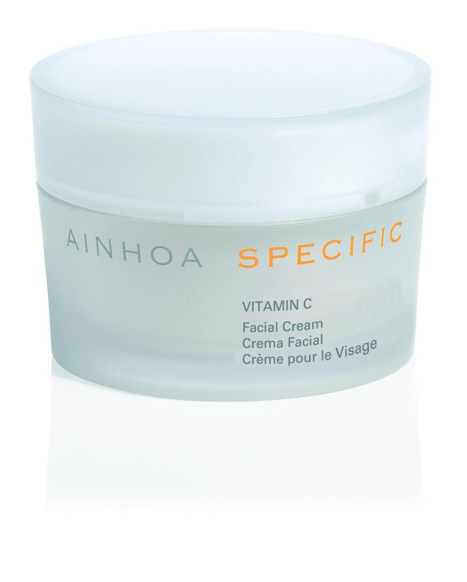 Ainhoa Specific Vitamin C крем для нормальной и сухой кожи день/ночь, 50 млR1859Крем с высокой концентрацией витамина С, который является природным антиоксидантом, прекрасно защищает кожу от свободных радикалов и негативных факторов окружающей среды. Предотвращает преждевременное старение кожи. Стимулирует обновление клеток. Выравнивает тон лица и дарит коже свежесть. Активные компоненты: витамин С (1,5%), витамин Е, масло шиповника (мускусной розы), гиалуроновая кислота. Способ применения: нанесите крем на очищенную кожу лица и шеи. Можно использовать утром и вечером. При выходе на солнце рекомендуется нанести солнцезащитный крем.