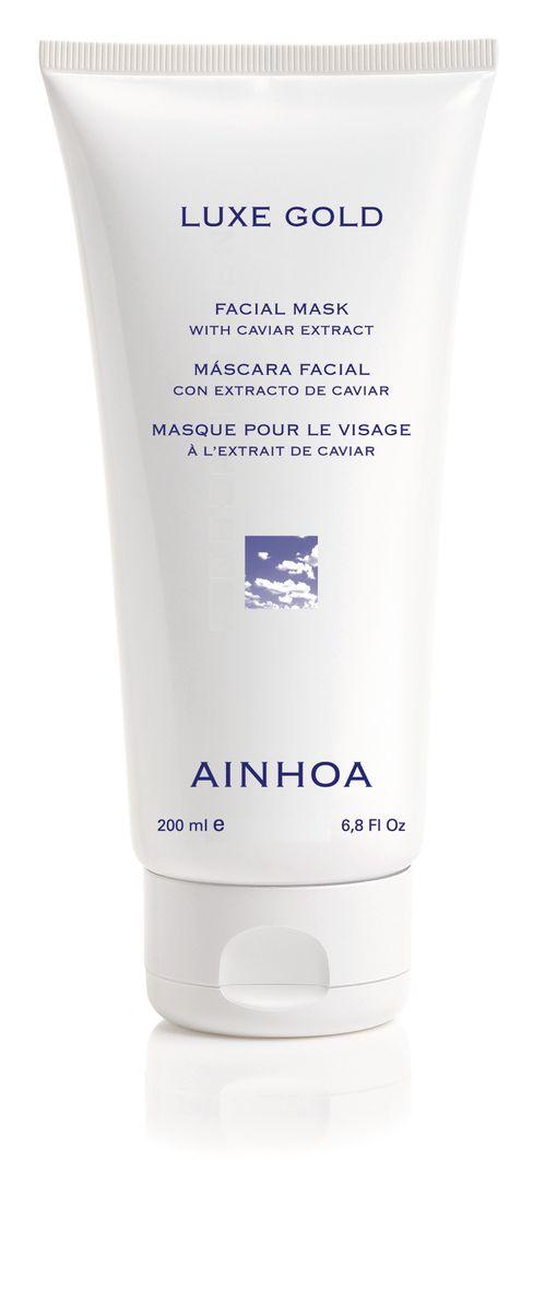 Ainhoa Luxe Gold Омолаживающая увлажняющая маска с экстрактом икры и золотой пудрой, 100 млR2009Маска имеет приятную кремовую текстуру и прекрасно увлажняет кожу, заряжает ее энергией. Золотая пудра, входящая в состав, усиливает регенерацию клеток и способствует проникновению кислорода в кожу. Маска уменьшает морщины и омолаживает кожу. Активные компоненты: экстракт икры, гидролизованный протеин сои, бисаболол, золотая пудра. Способ применения: нанесите маску тонким слоем на предварительно очищенную кожу лица и шеи. Оставьте на 15-20 минут. Удалите с помощью влажного ватного диска или спонжа. Рекомендуется использовать 1-2 раза в неделю.