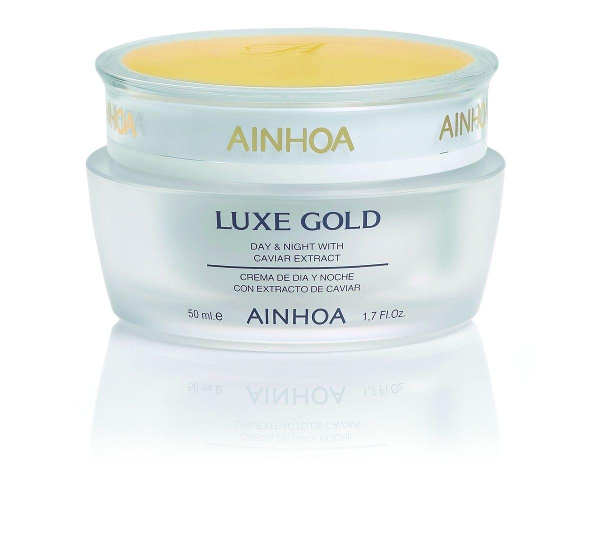 Ainhoa Luxe Gold Крем для лица с экстрактом икры и золотой пудрой дневной/ночной, 50 мл