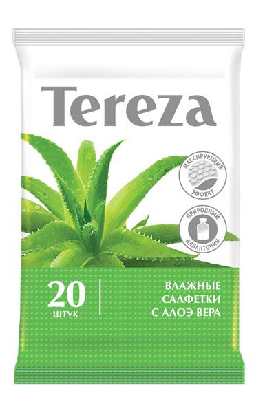 Tereza, Влажные очищающие салфетки 20 шт