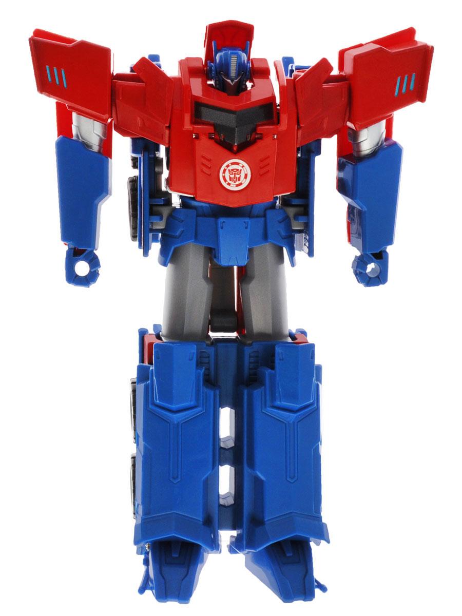 Transformers Трансформер Robots In Disguise Optimus Prime 20 смB0899_B0067Фигурка Transformers Robots In Disguise Optimus Prime обязательно понравится любому маленькому поклоннику знаменитых Трансформеров! Фигурка выполнена из прочного пластика в виде трансформера-автобота Оптимуса Прайма. Руки и ноги робота подвижны. В 3 простых шага малыш сможет трансформировать фигурку робота в мощный грузовик. Фигурка отличается высокой степенью детализации. Ребенок с удовольствием будет играть с фигуркой, придумывая разные истории. Порадуйте его таким замечательным подарком!