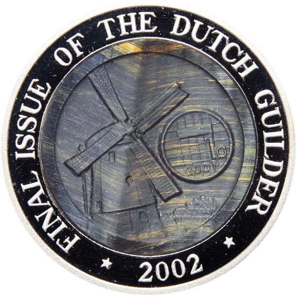 Монета номиналом 10 вон Последний выпуск голландского гульдена. КНДР, 2002 год324006Диаметр: 40 мм Вес: 31,1 гр. Качество: Proof Сохранность: UNC (без обращения)