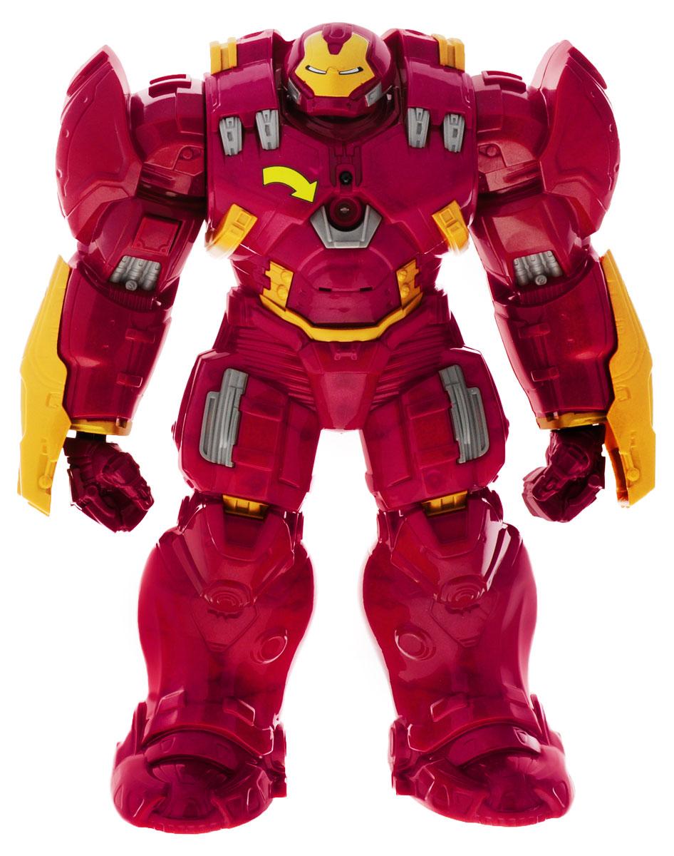 Avengers Фигурка Титаны Hulk BusterB0441EU4Фигурка Avengers Титаны: Hulk Buster порадует любого маленького поклонника знаменитой франшизы Мстители (Avengers). Фигурка выполнена из высококачественного прочного пластика в виде усиленного варианта Железного Человека, созданного специально для борьбы с Халком. Голова фигурки поворачивается, руки двигаются. На правой руке есть специальная кнопка, при нажатии на которую Hulk Buster стремительно выбрасывает свой мощный кулак. В центре груди имеется кнопка, которая включает реплики и звуки, издаваемые этой грозной машиной в бою. Звуки сопровождаются свечением светодиода в центре фигурки. Фигурка понравится как детям, так и взрослым коллекционерам, она станет отличным сувениром или займет достойное место в коллекции любого поклонника комиксов о непобедимых Мстителях. Для работы игрушки необходимы 3 батарейки типа АА (товар комплектуется демонстрационными).