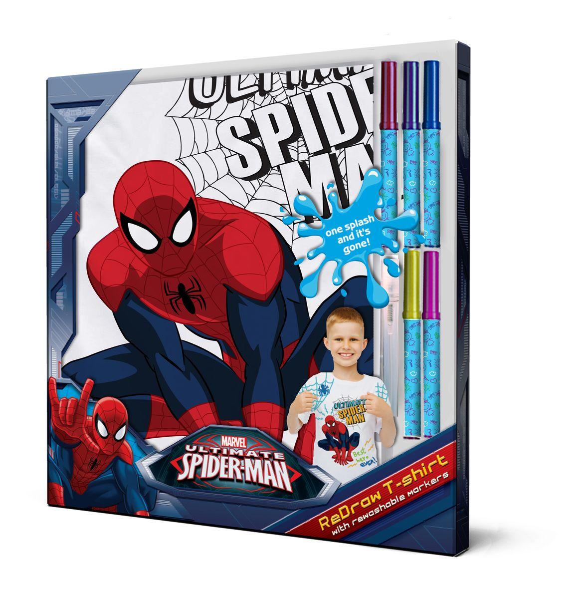 Spider-Man Футболка с фломастерами для раскрашивания возраст 8 лет/рост 128 см