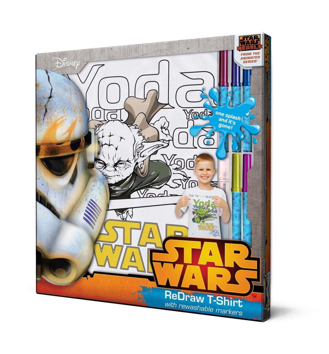 Star Wars Футболка с фломастерами для раскрашивания возраст 6 лет/рост 116 см