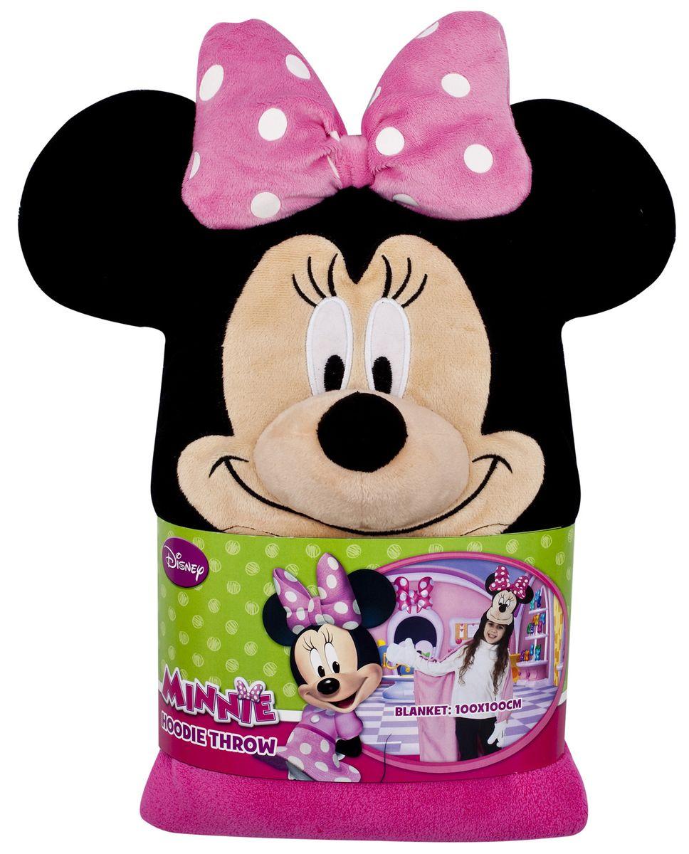 15485 Плед с капюшоном Minnie Mouse (Минни Маус), размер 100х100 см15485Детский плед с капюшоном – удивительная и многофункциональная вещь, от приобретения которой выиграют все. Родители, потому что получают для своих любимых чад тёплое и мягкое покрывальце. Дети, потому что мягкий плед может использоваться как накидка или пончо, а это отличная возможность преобразиться из мальчика или девочки в любимого героя. Данная текстильная продукция занимает высокие позиции на потребительском рынке благодаря своим оригинальным дизайнам и безопасным материалам.