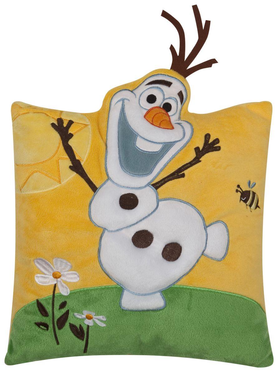 15618 Подушка Frozen (Холодное сердце)-Olaf, размер 33х33 см15618Детская декоративная подушка может использоваться в качестве элемента декора в вашем доме, ну и кроме того, быть настоящей игрушкой для вашего малыша. Данная текстильная продукция занимает высокие позиции на потребительском рынке благодаря своим оригинальным дизайнам и безопасным материалам.
