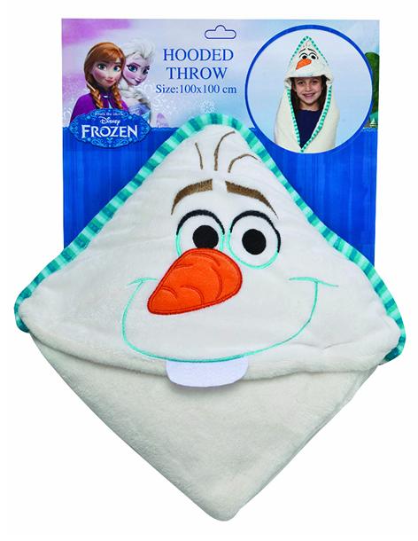 Disney 15642 Плед с капюшоном Frozen (Холодное сердце) - Olaf, размер 100х100 см