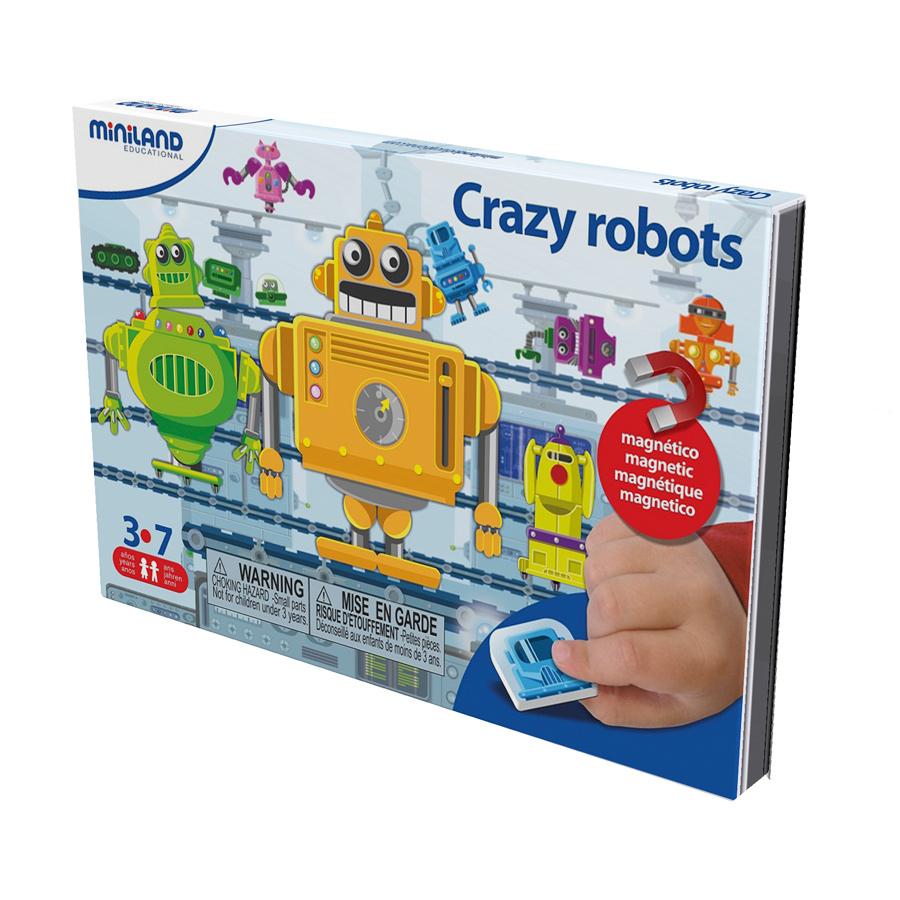 Miniland Магнитная игра Робот31961На одной стороне магнитной доски - задание. Игрок внимательно смотрит и запоминает картину, потом переворачивает доску и создает свою картину по памяти.Задача игрока - правильно собрать на конвейнерной ленте все части роботов, правильно подбирая детали, соответствующие по цвету и форме. Кроме основного задания, можно создавать разнообразные сумасшедшие модели других роботов, объединяя различные детали. Размер магнитной доски - конвейера - 21,5*44 см. Развивает: креативное мышление, воображение, цветовое восприятие