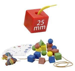 Miniland Обучающий набор со шнуровкой Геометрические формы, 25