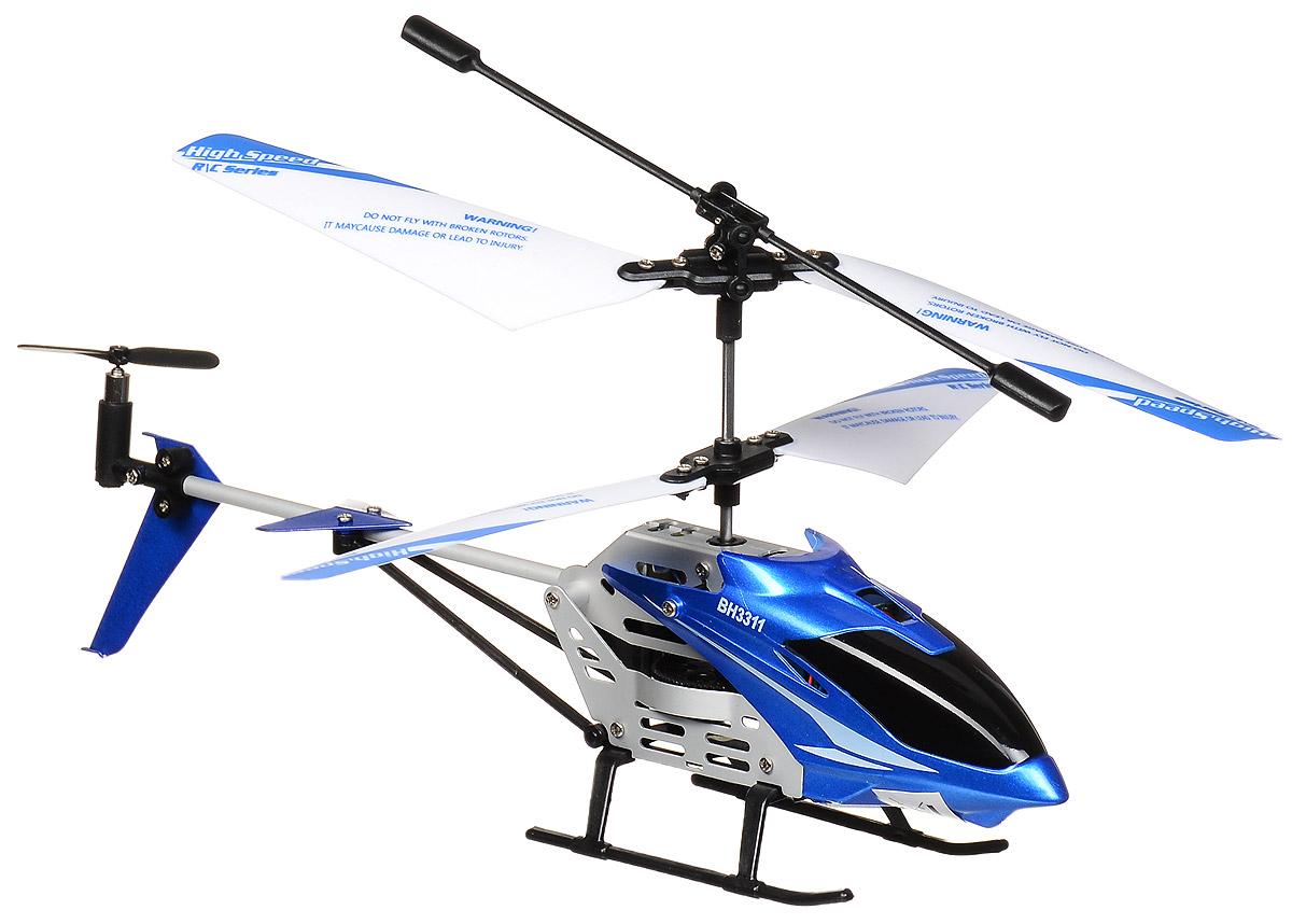 Властелин небес Вертолет на радиоуправлении Стриж цвет синийBH 3311Вертолет Властелин небес Стриж c инфракрасным управлением и встроенным гироскопом отлично подходит для полетов в закрытых помещениях и на улице в безветренную погоду. Гироскоп предназначен для курсовой стабилизации полета. Вертолет небольшой и маневренный и легко обходит препятствия, послушно следуя командам c пульта управления. Игрушка может летать вперед-назад, вверх-вниз, вправо-влево, поворачивать, вращаться и зависать в воздухе. А также имеется функция турбо-ускорение. Вертолет оснащен проблесковыми огнями для полета в темноте. Имеется возможность подзарядки вертолета от пульта и USB-шнура. Полностью заряженный вертолет летает 5-6 минут. Игрушка развивает многочисленные способности ребенка - мелкую моторику, пространственное мышление, реакцию и логику. Вертолет работает от встроенного аккумулятора (Li-Poly 3,7V), который можно заряжать от USB-шнура (входит в комплект). Для работы пульта управления необходимо купить 6 батареек напряжением 1,5V типа АА (в...