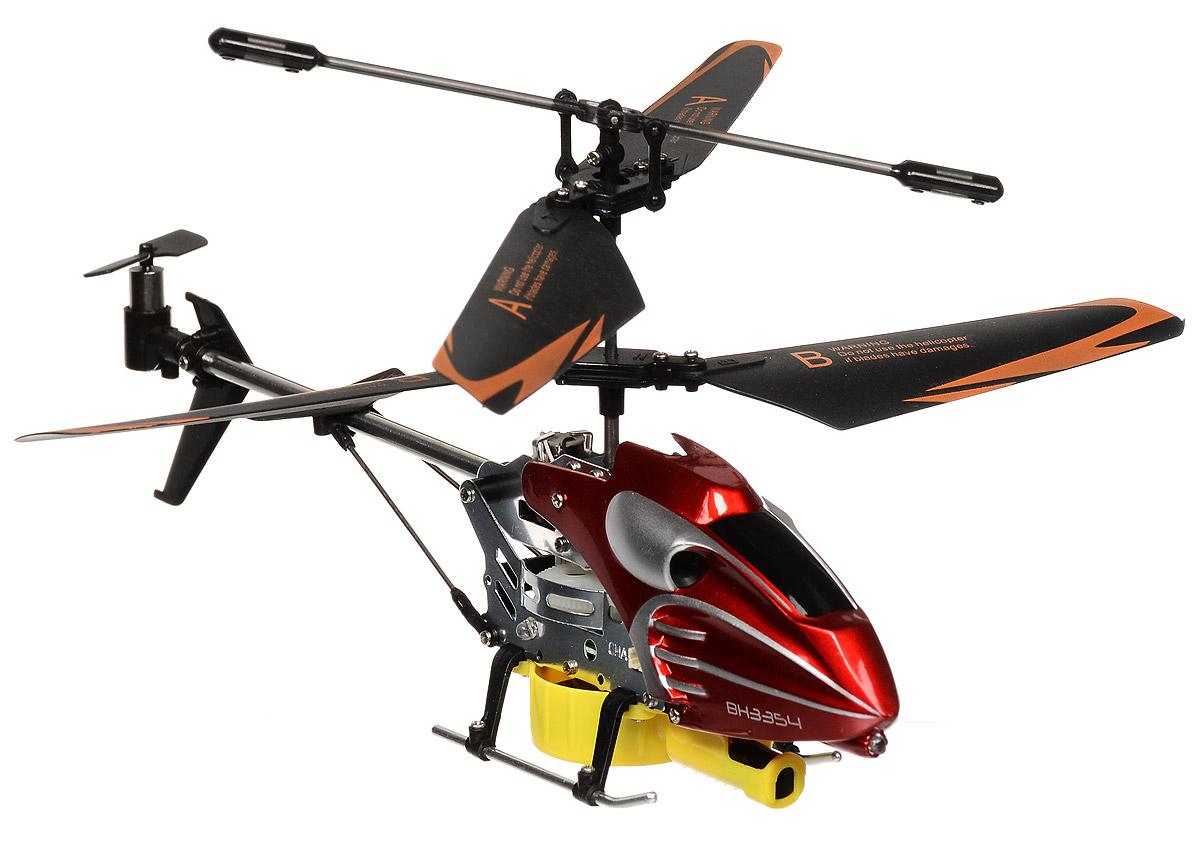 Властелин небес Вертолет на радиоуправлении Лазерная атака цвет красныйBH 3354Вертолет на радиоуправлении Лазерная атака доставит массу удовольствия вам и вашем ребенку. Изделие выполнено из прочного пластика с элементами из металла. Игрушка имеет пропорциональное управление и встроенный гироскоп для стабилизации полета. Помимо полетов в разные стороны (с характерным звуком двигателя), вертолет также может вести стрельбу с помощью кнопки на пульте по специальной мишени, попадание в которую сопровождается звуковыми и световыми эффектами. Дальность управления - до 10 метров. Полностью заряженный вертолет работает 6-7 минут. Время подзарядки составляет около 30 минут. Вертолет работает от встроенного аккумулятора, который можно заряжать с помощью USB-кабеля (входит в комплект). Для работы пульта управления необходимо купить 6 батареек напряжением 1,5V типа АА (в комплект не входят). Для мишени необходимо купить 3 батарейки напряжением 1,5V типа АА (в комплект не входят).