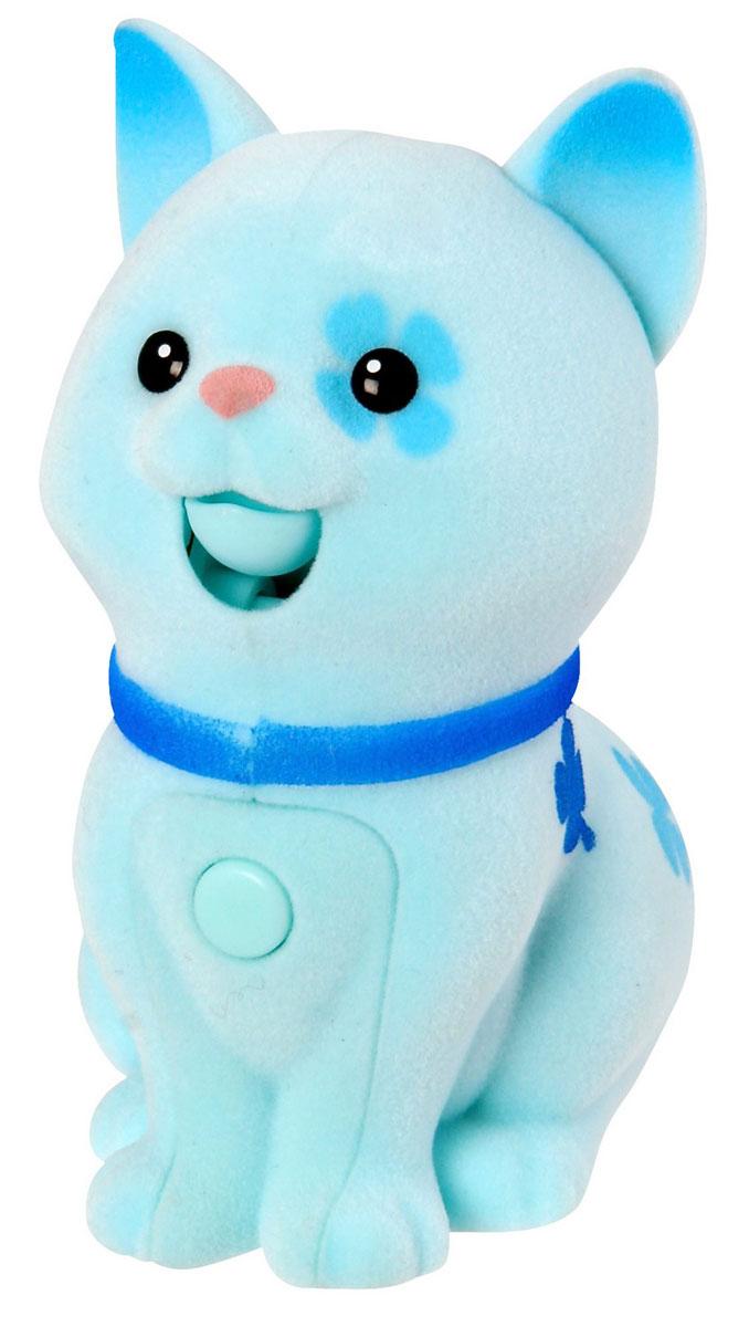 Moose Интерактивная игрушка Котенок цвет голубойblue_cat/ast28152 (28156, 28157, 28158, 28159, 28160, 28161)Интерактивная игрушка Moose Котенок без сомнения заинтригует детей, которые очень любят животных. Игрушка выполнена из прочных материалов, обладает интересным окрасом и особенным характером. На груди у котенка находится управляющая кнопка, если на нее нажать и удерживать, то котенок воспроизведет все, что услышит. Если нажать кнопку и отпустить, то игрушка будет мяукать в ответ, а если ваш малыш погладит спинку котенка, то он нежно замурчит. Выключатель находится на брюшке. Для работы необходимы 2 батарейки типа АА(в комплект не входят).