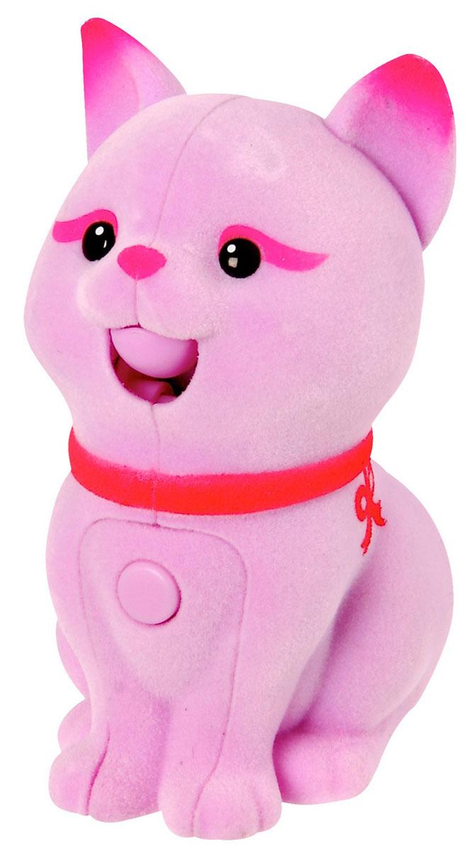 Moose Интерактивная игрушка Котенок цвет розовыйpink_cat/ast28152 (28156, 28157, 28158, 28159, 28160, 28161)Интерактивная игрушка Moose Котенок без сомнения заинтригует детей, которые очень любят животных. Игрушка выполнена из прочных материалов, обладает интересным окрасом и особенным характером. На груди у котенка находится управляющая кнопка, если на нее нажать и удерживать, то котенок воспроизведет все, что услышит. Если нажать кнопку и отпустить, то игрушка будет мяукать в ответ, а если ваш малыш погладит спинку котенка, то он нежно замурчит. Выключатель находится на брюшке. Для работы необходимы 2 батарейки типа АА(в комплект не входят).