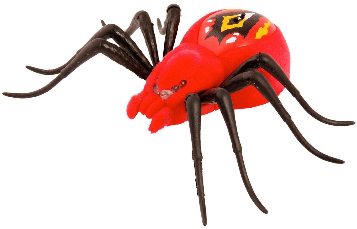 Moose Интерактивная игрушка Паучок цвет красныйred/ast29001 (29005, 29006, 29007, 29014)Интерактивная игрушка Moose Паучок без сомнения заинтригует детей, которые хотят познакомиться с различными животными. Игрушка выполнена из прочных материалов. Паучок имеет 3 режима игры. Для того чтобы включить игрушку или перевести ее из одного режима в другой достаточно провести по спине паука. Там расположены два сенсора, до которых нужно дотронуться. Глаза паука загорятся синим, он начнет ползать и искать укромные места, для того чтобы спрятаться. Во втором режиме глаза паука загорятся зеленым цветом. Игрушка начинает активнее передвигаться и исследовать окружающую территорию. В последнем режиме паук ведет себя более агрессивно. Он передвигается быстрее, может атаковать, а его глаза загораются красным светом. Для того, чтобы перевести его в обычные режимы достаточно еще несколько раз провести по сенсорам на спине. До тех пор пока глаза игрушки не загорятся синим или зеленым светом. Ваш ребенок будет в восторге от такого подарка! Для работы необходимо 3...