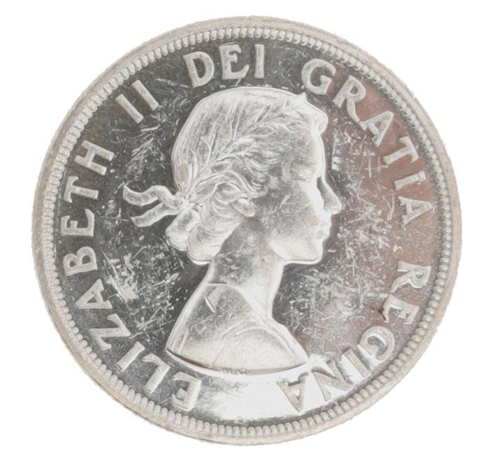 Монета номиналом 1 доллар 100-летие конференции в Шарлоттауне. Белый металл. Канада. 1964 год324006Диаметр: 36 мм. Гурт: рубчатый. Вес: 23,33 гр. Сохранность хорошая.