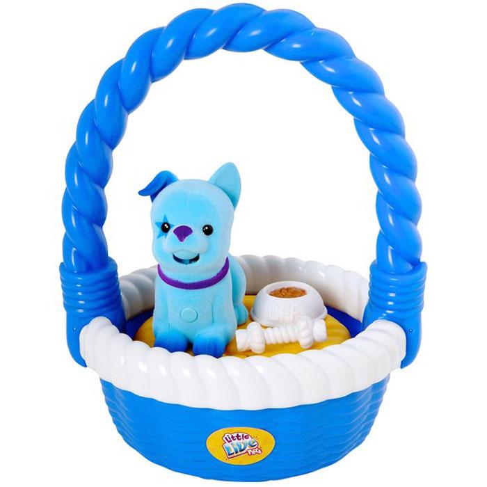 Moose Интерактивная игрушка Щенок в корзинке цвет голубой28162/ast28153 (28162, 28163)Интерактивная игрушка Moose Щенок в корзинке без сомнения заинтригует детей, которые очень любят животных. Игрушка выполнена из прочных материалов, обладает интересным окрасом и особенным характером. На груди у щенка находится управляющая кнопка, если на нее нажать и удерживать, то песик воспроизведет все, что услышит. Если нажать кнопку и отпустить, то собачка будет гавкать в ответ, а если ваш малыш погладит спинку щенка, то он радостно залает. Щенок умеет издавать больше 30 звуков, включая известные песни. Выключатель находится на брюшке. Помимо щенка в комплект входят корзинка, миска и косточка. Для работы необходимы 2 батарейки типа АА(в комплект не входят).