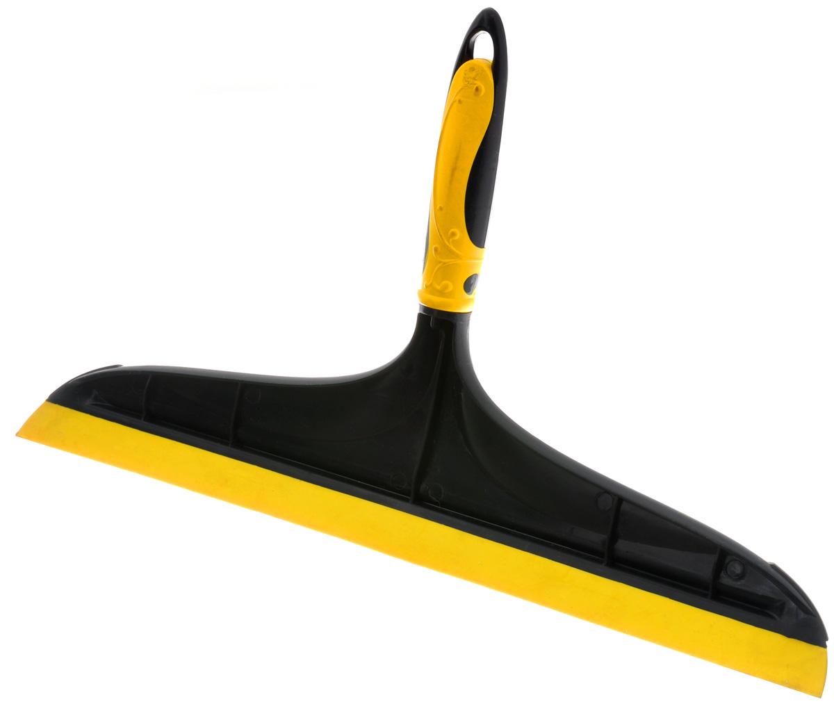 Сгон для воды Banat Эко, цвет: желтый, черный, 34 см860383Сгон для воды Banat идеально подходит для мытья окон, стекол и зеркал дома, в офисе, автомобиле. Специальная резиновая накладка быстро сгоняет лишнюю воду, оставляя поверхность чистой и сверкающей. Аксессуар снабжен удобной нескользящей прорезиненной ручкой с отверстием для подвеса.