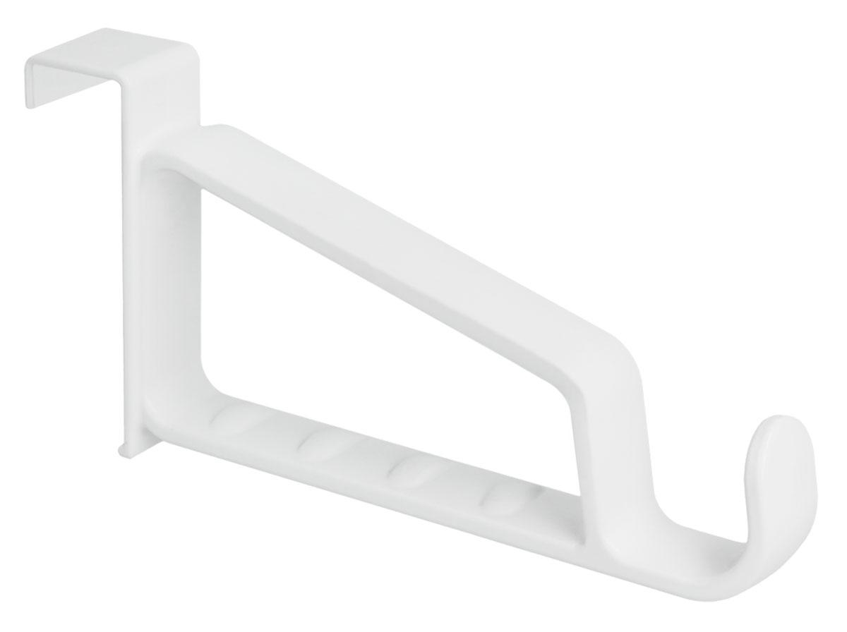 Вешалка-крючок Metaltex, дверная, цвет: белый40.51.85Оригинальная вешалка-крючок Metaltex, изготовленная из полипропилена, существенно сэкономит пространство в комнате. Если не хватает места в шкафу, а сумки и кофты занимают место на стульях, используйте дверь! Такой крючок подойдет для подвешивания верхней одежды на вешалках-плечиках, для рюкзаков, зонтиков и многого другого.