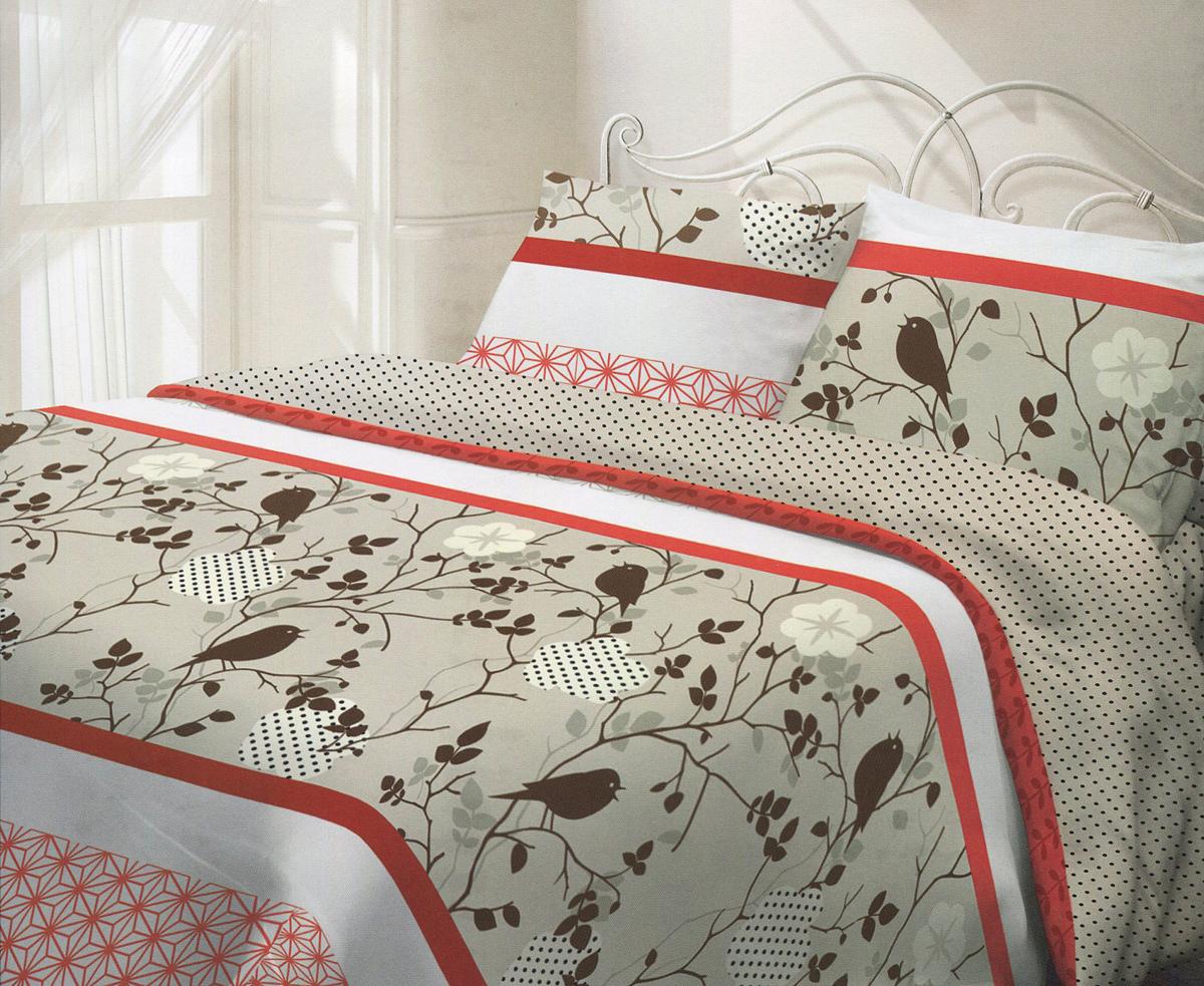 Комплект белья Гармония Летний сад, 2-спальный, наволочки 50х70, цвет: белый, красный, коричневый190836Комплект постельного белья Гармония Летний сад является экологически безопасным для всей семьи, так как выполнен из натурального хлопка. Постельное белье оформлено оригинальным рисунком и имеет изысканный внешний вид. Постельное белье Гармония - лучший выбор для современной хозяйки! Его отличают демократичная цена и отличное качество. Гармония производится из поплина - 100% хлопковой ткани. Поплин мягкий и приятный на ощупь. Кроме того, эта ткань не требует особого ухода, легко стирается и прекрасно держит форму. Высококачественные красители, которые используются при производстве постельного белья экологичны и сохраняют свой цвет даже после многочисленных стирок. Благодаря высокому качеству ткани и европейским стандартам пошива постельное белье Гармония будет радовать вас долгие годы!