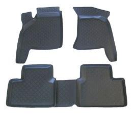Коврики в салон автомобиля L.Locker, для ВАЗ 2110-12, 4 шт0280030201Коврики L.Locker производятся индивидуально для каждой модели автомобиля из современного и экологически чистого материала. Изделия точно повторяют геометрию пола автомобиля, имеют высокий борт, обладают повышенной износоустойчивостью, антискользящими свойствами, лишены резкого запаха и сохраняют свои потребительские свойства в широком диапазоне температур (от -50°С до +80°С). Рисунок ковриков специально спроектирован для уменьшения скольжения ног водителя и имеет достаточную глубину, препятствующую свободному перемещению жидкости и грязи на поверхности. Одновременно с этим рисунок не создает дискомфорта при вождении автомобиля. Водительский ковер с предустановленными креплениями фиксируется на штатные места в полу салона автомобиля. Новая технология системы креплений герметична, не дает влаге и грязи проникать внутрь через крепеж на обшивку пола.