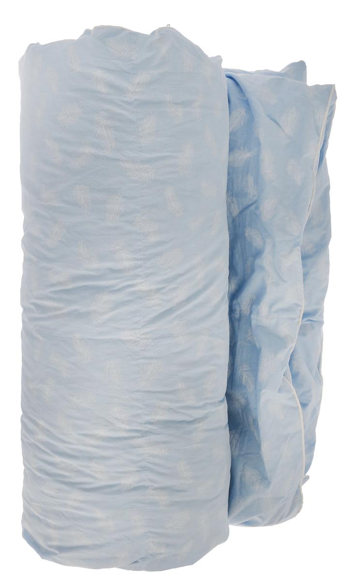 Одеяло Подушкино Сонюшка, наполнитель: пух, перо, цвет: голубой, белый, 140 х 205 см120295102-КОдеяло Подушкино Сонюшка подарит комфортный и приятный сон. Чехол одеяла изготовлен из прочного тика и декорирован изысканным рисунком. Одеяло с внутренним наполнителем из пуха и перьев обладает гипоаллергенностью, легкостью, и терморегулярностью. Наполнитель отличается высокой теплопроводностью и воздухопроницаемостью, не накапливает пыль и запахи. Мягкое и теплое одеяло бережно окутает вас во время сна, сделает его крепким и безмятежным! Материал чехла: тик (100% хлопок). Материал наполнителя: полупуховый (60% пух, 40% перо).