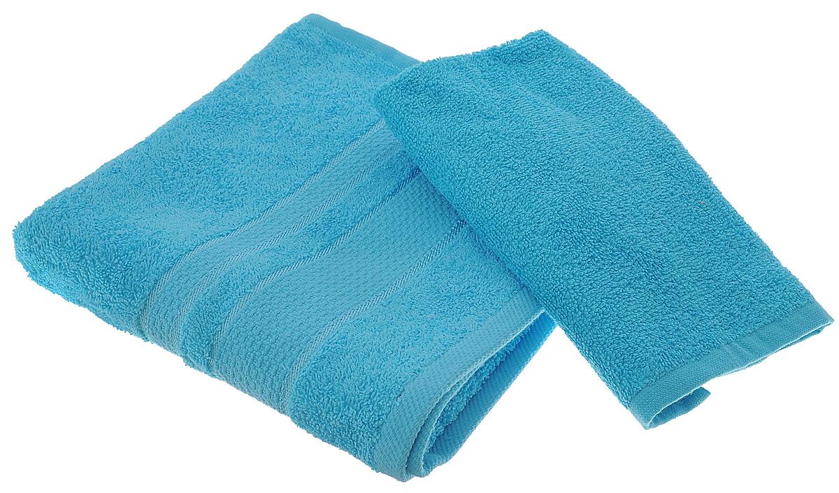 Набор махровых полотенец Aisha Home Textile, цвет: бирюзовый, 2 штУзТ-КМП-09-07Набор Aisha Home Textile состоит из двух махровых полотенец разного размера. В состав входит только натуральное волокно - хлопок. Лаконичные бордюры подойдут для любого интерьера ванной комнаты. Полотенца прекрасно впитывают влагу и быстро сохнут. При соблюдении рекомендаций по уходу не линяют и не теряют форму даже после многократных стирок.