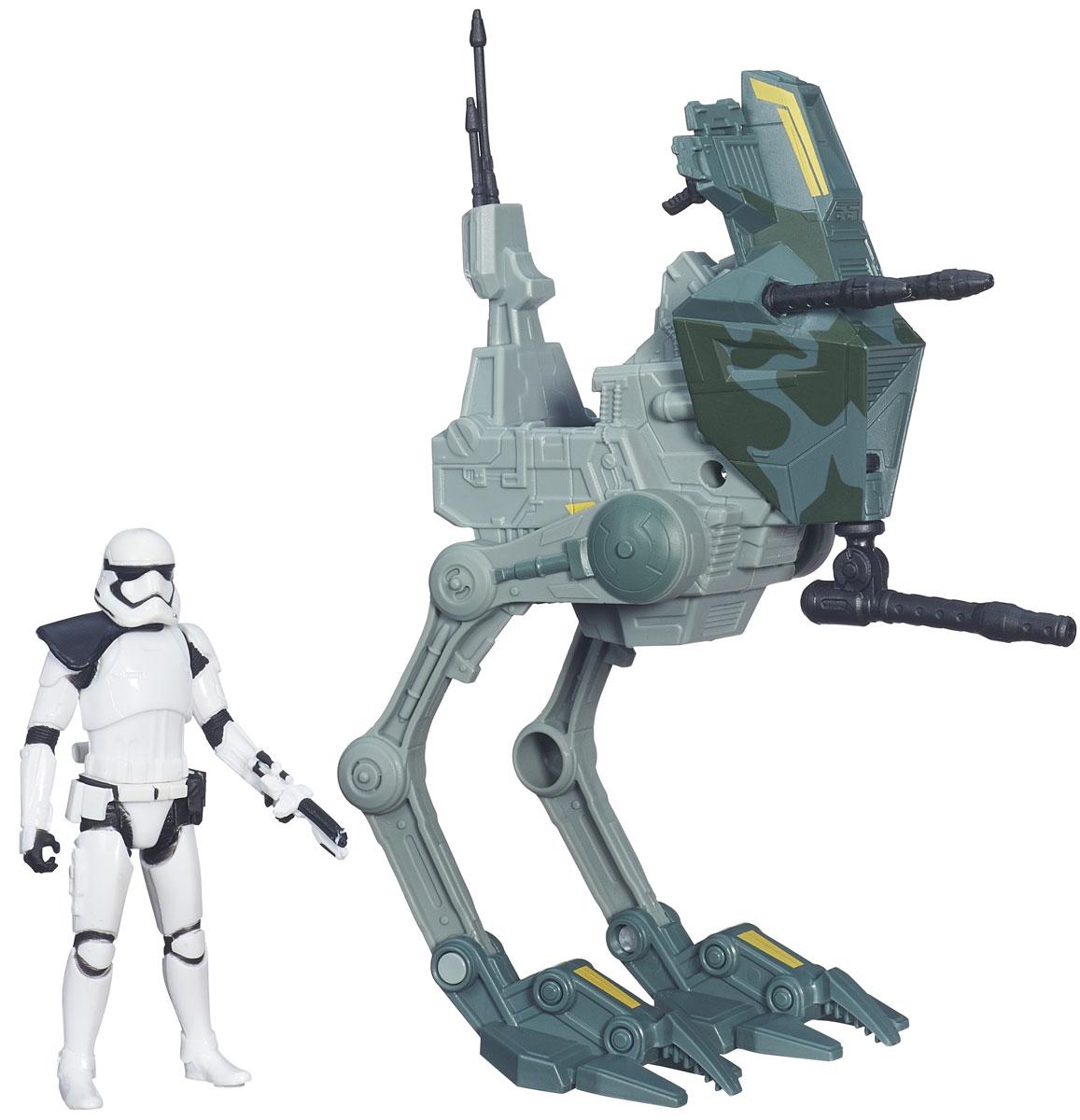 Star Wars Игровой набор Assault Walker & Stormtrooper SergeantB3716EU4Игровой набор Star Wars Assault Walker & Stormtrooper Sergeant не оставит вашего ребенка равнодушным! Он включает в себя точный макет боевого дрона из фильма Звездные войны и фигурку Snowtrooper с оружием. Фигурка может разместиться на специальном сиденье в космическом дроне, и передвигаться на нем. Создай свой галактический флот Звездных войн и восстанови самые эпичные сражения из нового эпизода саги. Ребенок сможет часами играть с этим набором, придумывая разные истории. Порадуйте его таким замечательным подарком!