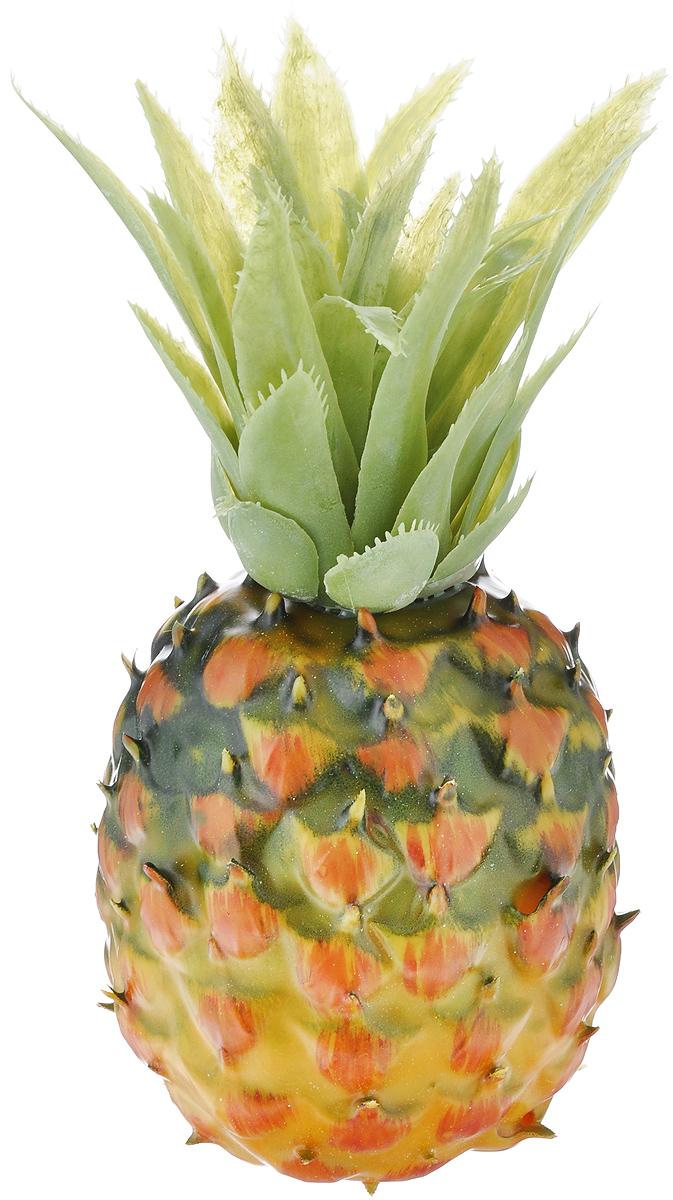 Муляж Ананас, цвет: желтый, зеленый, 10 смPN100Муляж Ананас изготовлен из полиуретана, окрашен в естественные цвета. Предназначен для украшения интерьера дома. Высота муляжа без листьев: 10 см. Высота муляжа с листьями: 21 см.