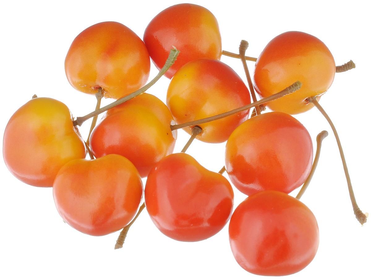 Муляж Черешня, цвет: желто-красный, 2,5 см, 10 штSCR30/10Муляж Черешня изготовлен из полиуретана, окрашен в естественные цвета. Предназначен для украшения интерьера дома. Высота одной ягоды муляжа: 2,5 см. В наборе: 10 ягод.