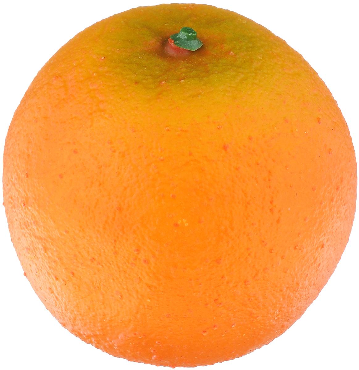 Муляж Апельсин, цвет: оранжевый, 8 смCZ90/80Муляж Апельсин изготовлен из полиуретана, окрашен в естественные цвета. Предназначен для украшения интерьера дома. Диаметр муляжа: 8 см.