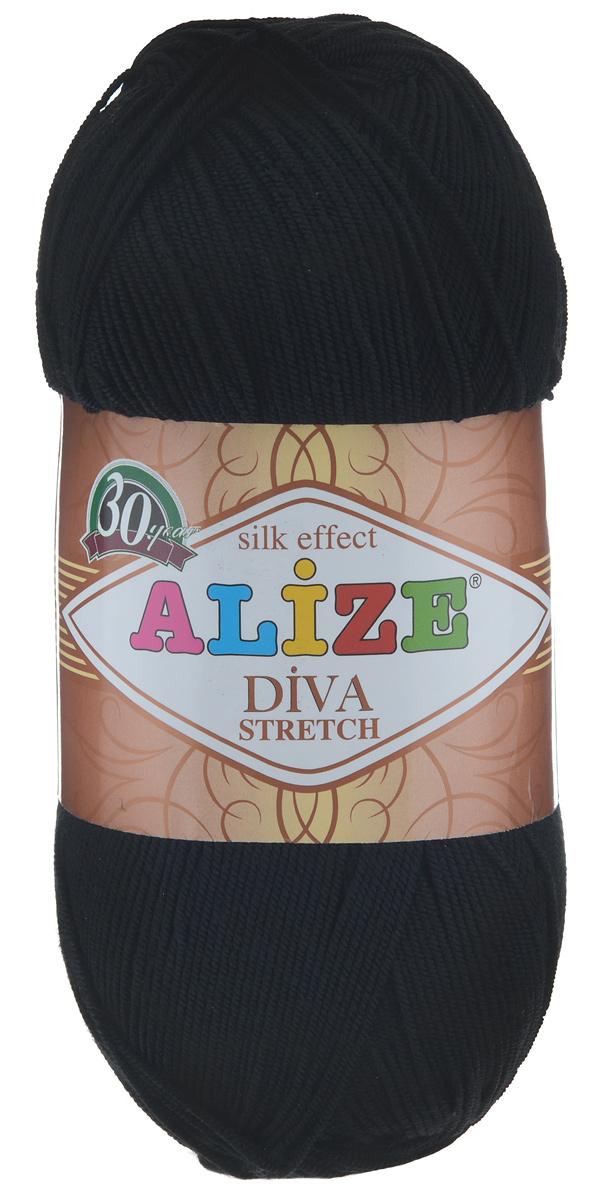 Пряжа для вязания Alize Diva Stretch, цвет: черный (60), 400 м, 100 г, 5 шт367021_60Легкая пряжа Alize Diva Stretch изготовлена из микрофибры с добавлением ПБТ эластика. Пряжа не выгорает на солнце и не линяет. Готовые изделия из этой пряжи быстро сохнут, после намокания практически не деформируются. Эластичная пряжа Diva Stretch обладает поистине уникальными характеристиками. Она мягкая, тонкая и в то же время прочная, она легко ложится в приятное на ощупь, упругое, тянущееся, но сохраняющее свою форму полотно и отлично смотрится в узорах. Изделия, связанные из этой пряжи, прекрасно держат форму и не растягиваются. Пряжа стрейч. Готовое изделие из пряжи Alize Diva Stretch после первой стирки слегка садится. Поэтому, перед тем, как начать работать с этой нитью, рекомендуется связать образец, постирать и высушить его, выяснить степень усадки и только потом, с учетом этих данных, делать расчет петель. Рекомендуемый размер спиц: 2-3,5 мм. Рекомендуемый размер крючка: 1-3 мм. Состав: 92%...