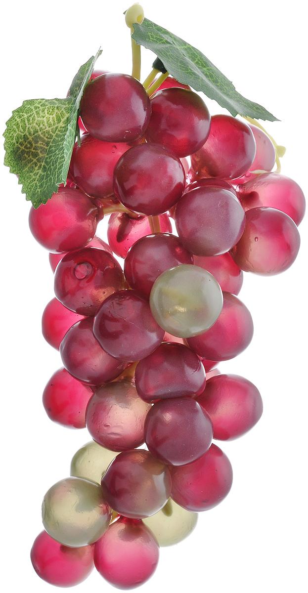 Муляж Виноград, цвет: фиолетовый, зеленый, 18 смG45-RМуляж Виноград изготовлен из полиуретана, окрашен в естественные цвета. Предназначен для украшения интерьера дома. Длина виноградной грозди: 18 см.