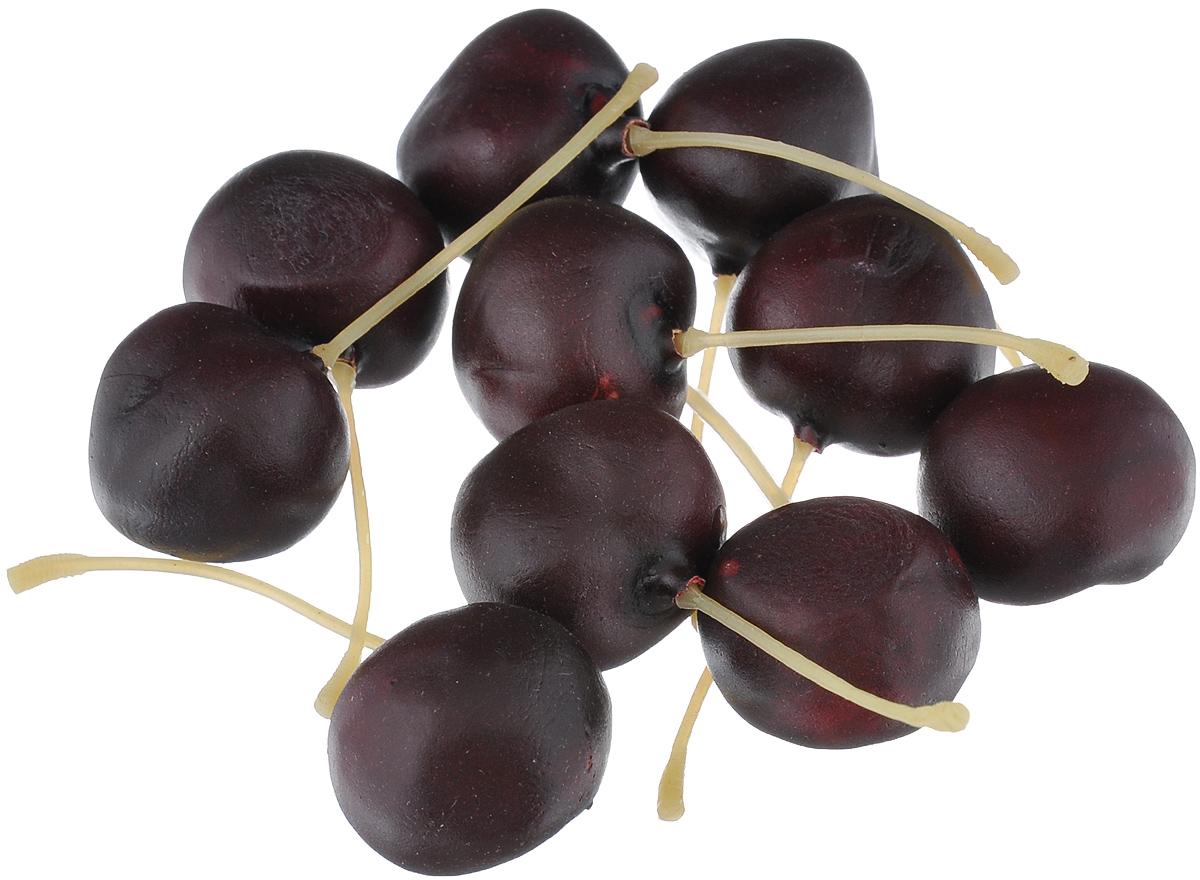 Муляж Вишня, цвет: темно-бордовый, 2,5 см, 10 штCR30/10Муляж Вишня изготовлен из полиуретана, окрашен в естественные цвета. Предназначен для украшения интерьера дома. Высота одной ягоды муляжа: 2,5 см. В наборе: 10 ягод.
