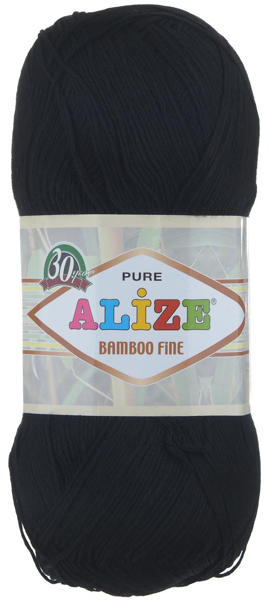 Пряжа для вязания Alize Bamboo Fine, цвет: черный (60), 440 м, 100 г, 5 шт688988_60Пряжа Alize Bamboo Fine подходит для ручного вязания детям и взрослым. Пряжа однотонная, приятная на ощупь, хорошо лежит в полотне. Изделия из такой нити получаются мягкие и красивые. Рекомендованные спицы 2,5-3,5 мм и крючок для вязания 1-3 мм. Состав: 100% бамбук.