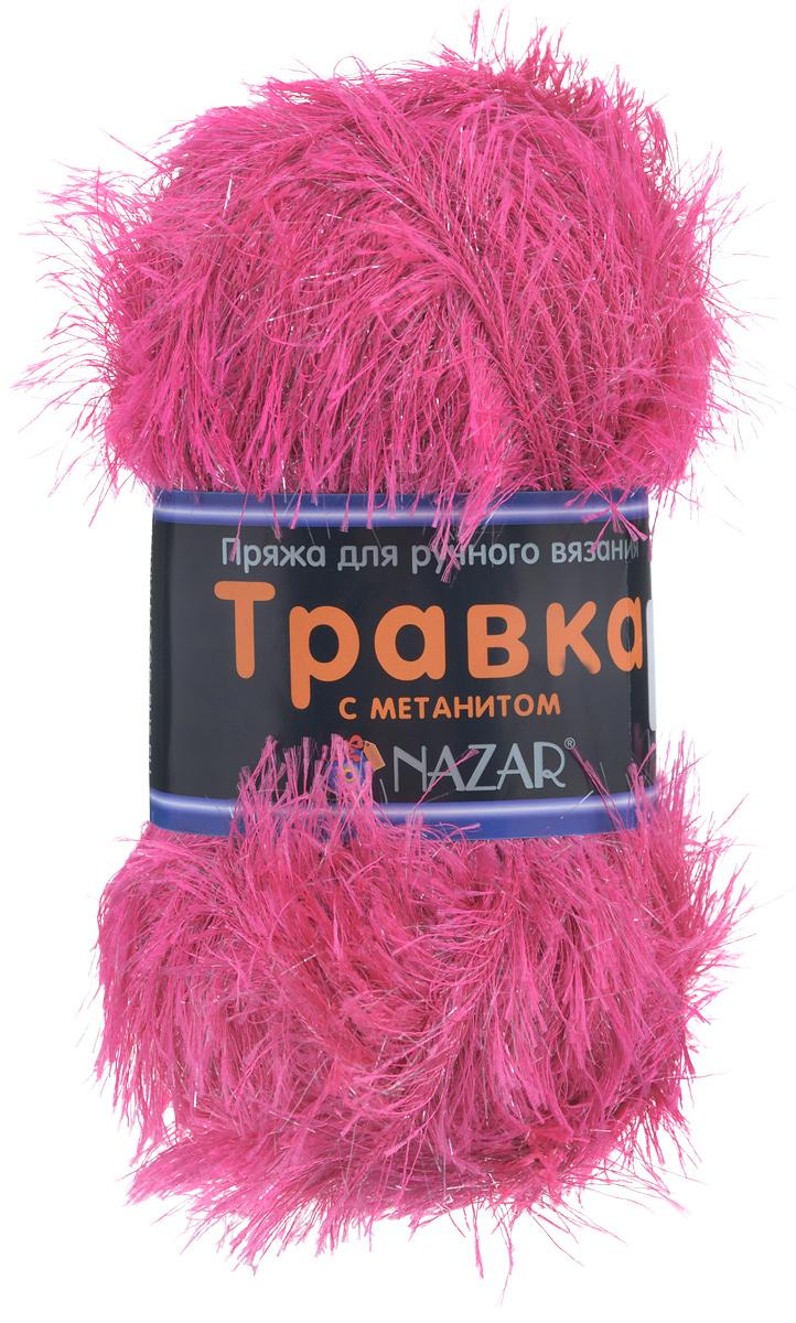 Пряжа для вязания Nazar Травка с метанитом, цвет: розовый (2014), 115 м, 100 г, 5 шт349021_2014Пряжа для вязания Nazar Травка с метанитом изготовлена из 90% полиэстера, 10% метанита. Это - пряжа с ворсом. Изделия выглядят как меховые, а добавление метанита придает блеск. Полотно выглядит пушистым с обеих сторон. Пряжа используется для отделки изделий, создания игрушек, а также хороша для новогодних костюмов и в качестве мишуры. Подходит для вязания на спицах и крючках 4 мм. Состав: 90% полиэстер, 10% метанит. Толщина нити: 1,5 мм.