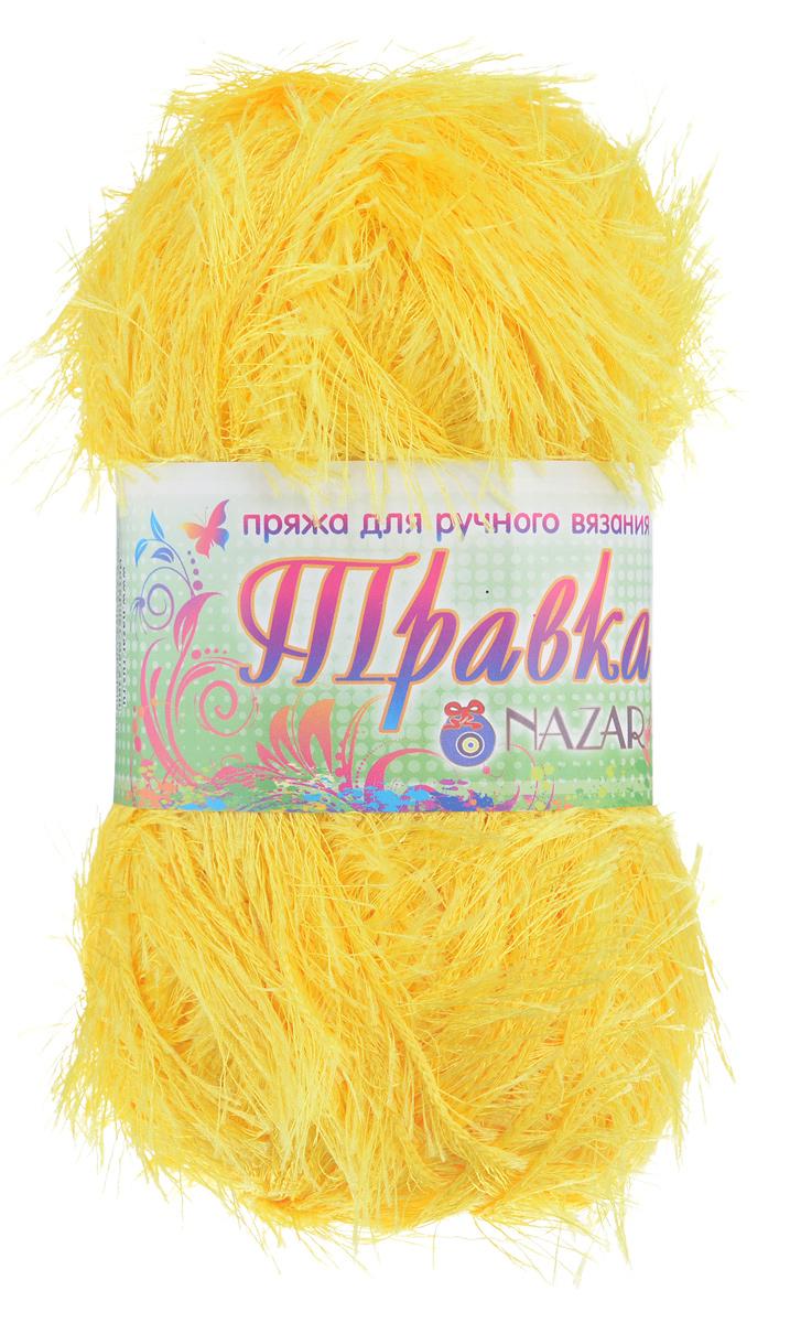 Пряжа для вязания Nazar Травка, цвет: желтый (2517), 150 м, 100 г, 5 шт349001_2517Пряжа для вязания Nazar Травка изготовлена из 100% полиэстера. Это - пряжа с ворсом. Изделия выглядят как меховые, на ощупь очень мягкие и шелковистые. Полотно выглядит пушистым с обеих сторон. Из такой пряжи великолепно получаются коврики и пледы, чехлы для мебели, декоративные наволочки и игрушки, шарфы и палантины. Подходит для вязания на спицах и крючках 4 мм. Состав: 100% полиэстер. Толщина нити: 1,5 мм.